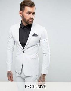 Супероблегающий пиджак бледно-серого цвета Religion - Серый