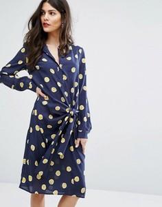 Платье в горошек с завязкой MAX&Co Dispensa - Мульти
