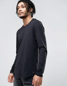 Удлиненные лонгсливы Esprit - Черный