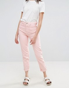 Розовые джинсы в винтажном стиле Waven Elsa - Розовый