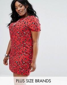 Цельнокройное платье с леопардовым принтом Alice & You - Мульти