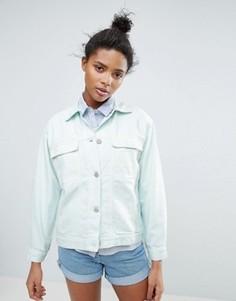 Свободная куртка пастельного цвета Waven Karin - Зеленый