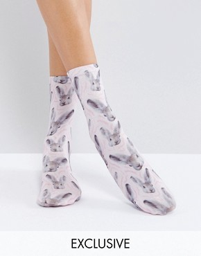 Носки с принтом зайцев Monki - Мульти