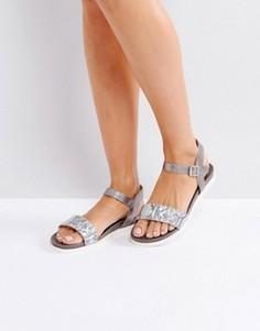 Серые кожаные сандалии Dune Lela - Серый