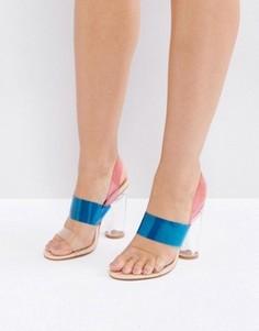Босоножки на каблуке с прозрачным верхом Truffle Collection - Мульти