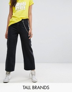 Джинсы с широкими штанинами и цепочкой Daisy Street Tall - Черный