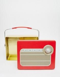 Коробка для завтрака в виде старинного радиоприемника Temerity Jones - Мульти