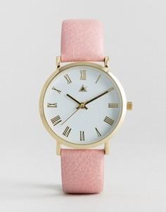 Часы с ремешком бледно-розового цвета ASOS - Розовый