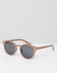 Круглые солнцезащитные очки в розовой оправе ASOS - Розовый