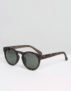 Круглые солнцезащитные очки Jack & Jones - Черный