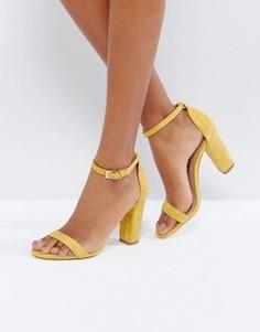 Замшевые босоножки на каблуке ALDO Myly - Желтый