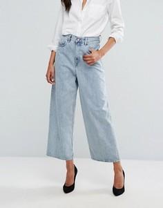 Укороченный джинсовый комбинезон с широкими штанинами Diesel Ary - Синий