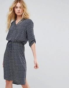 Платье-рубашка с принтом Soaked In Luxury - Мульти