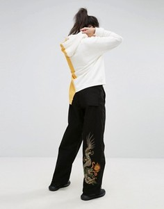 Широкие брюки с вышитым драконом Maharishi - Черный