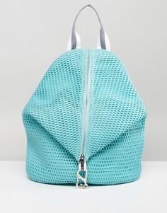 Сетчатый рюкзак с ткаными ремнями ASOS - Зеленый