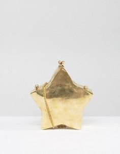 Структурированная сумка ручной работы в форме звезды Park Lane - Золотой