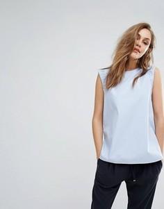 Блузка без рукавов с рюшами Boss Orange - Синий