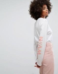 Лонгслив с принтом на груди и рукаве Waven - Розовый