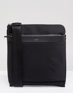 Черная сумка для путешествий с кожаной отделкой HUGO by Hugo Boss - Черный