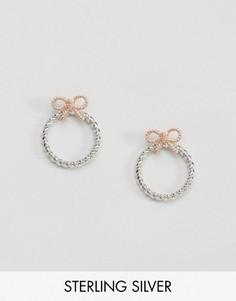 Серьги-кольца с бантами в винтажном стиле Olivia Burton - Золотой