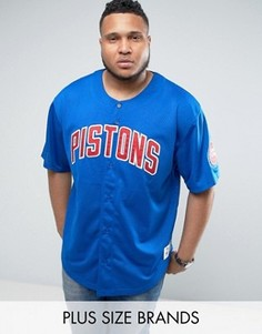 Сетчатая футболка Mitchell & Ness PLUS NBA Detroit Pistons - Синий