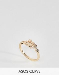 Кольцо со звездами ASOS CURVE - Золотой