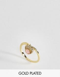 Кольцо с опалом - полудрагоценным камнем для родившихся в октябре Rock N Rose - Золотой