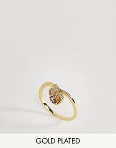 Кольцо с цитрином - полудрагоценным камнем для родившихся в ноябре Rock N Rose - Золотой