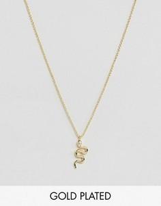 Ожерелье в виде змеи Rock N Rose - Золотой