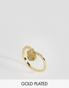 Кольцо с перидотом - полудрагоценным камнем для родившихся в августе Rock N Rose - Золотой