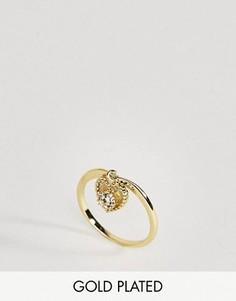 Кольцо с кварцем - полудрагоценным камнем для родившихся в апреле Rock N Rose - Золотой