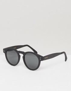 Круглые солнцезащитные очки Komono Clement Metal Series - Черный