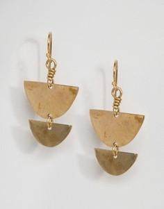 Серьги-подвески Made - Золотой