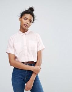 Укороченная рубашка Waven Daisi - Розовый