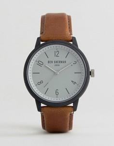 Часы со светло-коричневым ремешком из искусственной кожи Ben Sherman - Рыжий