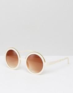 Круглые солнцезащитные очки 7X - Бежевый