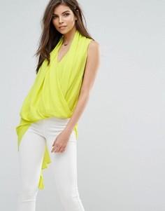 Асимметричная блузка Forever Unique - Желтый