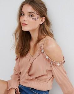 Татуировка для лица с цветами Orelia - Мульти