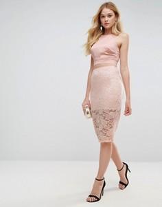 Кружевная юбка-карандаш ASOS - Розовый