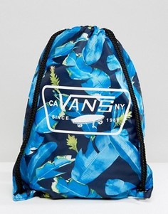 Спортивная сумка с принтом листьев Vans V002W6NKB - Синий