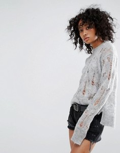 Джемпер с круглым вырезом AllSaints - Серый