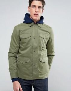 Легкая куртка с четырьмя карманами Threadbare - Зеленый