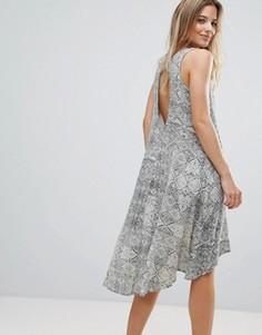 Платье с асимметричным краем Brave Soul Leigh - Бежевый