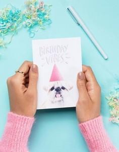 Поздравительная открытка с надписью Birthday Vibes Jolly Awesome - Мульти