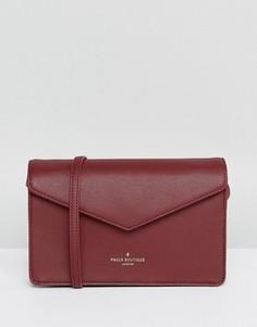 Темно-красная структурированная сумка через плечо Pauls Boutique - Красный