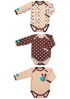 Комплект : боди с длинным рукавом 3 шт Lucky child