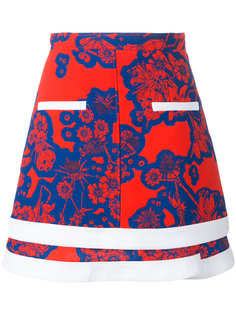 юбка с цветочным принтом Carven