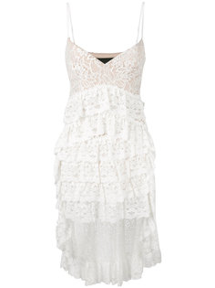 кружевное асимметричное платье Christian Pellizzari