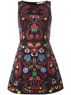 структурированное платье с вышивкой Lindsey Alice+Olivia