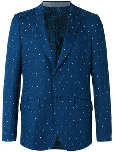 пиджак в горошек на двух пуговицах  Etro